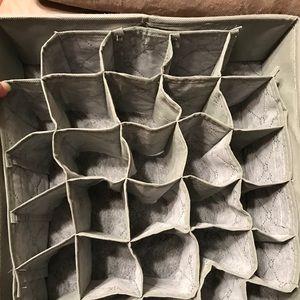 Storage & Organization - Set of 2 Drawer Organizers, Collapsable Fabric